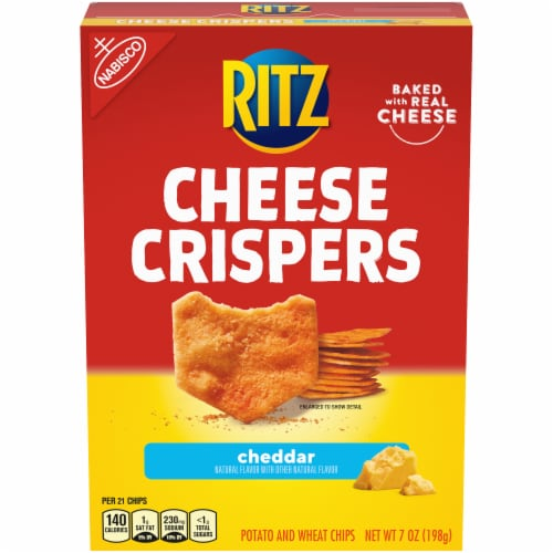Ritz Cheese Crispers Cheddar Potato and Wheat Chips Perspective: front