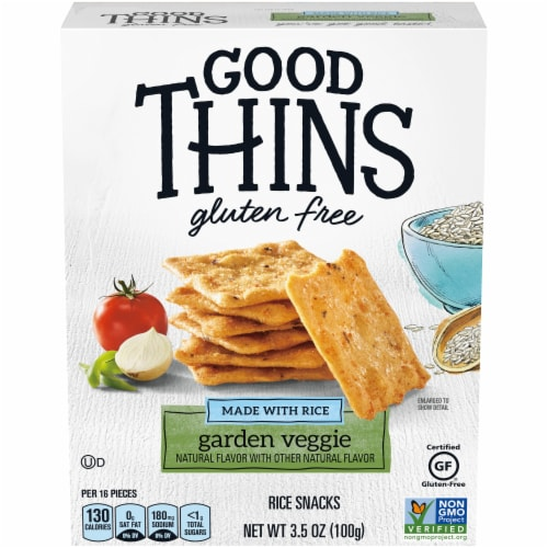 Good Thins Gluten Free Garden Veggie Rice Crackers Perspective: front