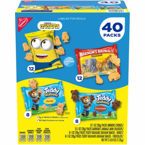 Nabisco Fun Shapes Variety Pack, 1 Ounce (40 Pack) Perspective: front