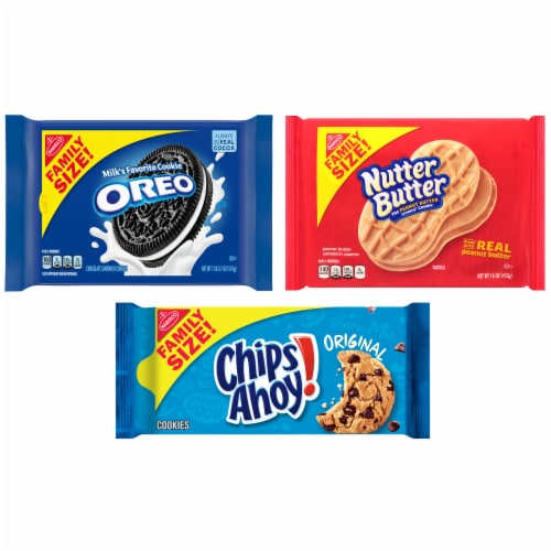 Nabisco Variety Pack Oreo Chips Ahoy & Nutter Butter Perspective: front