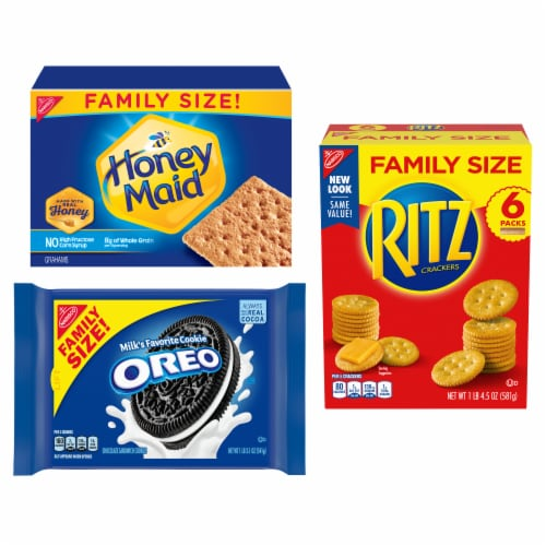 Nabisco Mixed Brand Crackers & Cookies Perspective: front