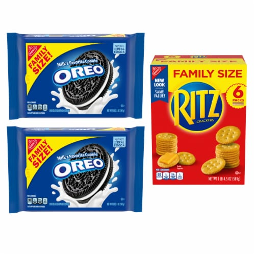 Nabisco Variety Pack Oreo & Ritz Crackers Perspective: front
