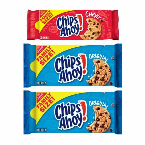 Chips Ahoy! Variety Pack Original & Chewy Cookies Perspective: front
