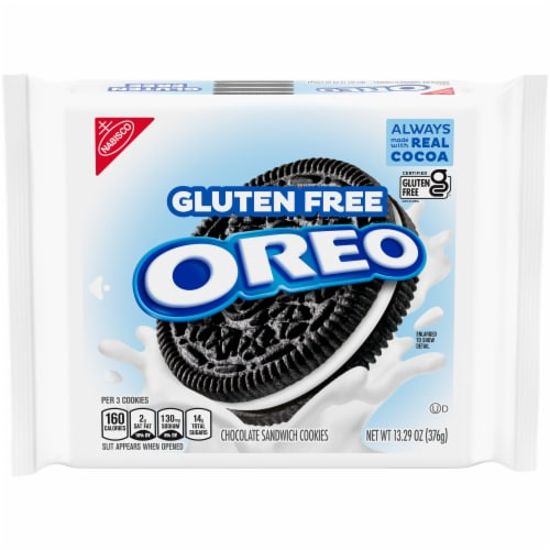 Oreo Gluten Free Sandwich Cookies Perspective: front
