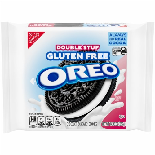 Oreo Gluten Free Double Stuf Sandwich Cookies Perspective: front