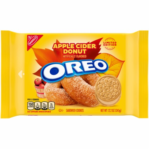 Oreo Limited Edition Apple Cider Donut Sandwich Cookies Perspective: front