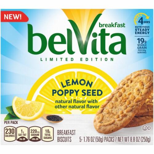 belVita Lemon Poppy Seed Breakfast Biscuits Perspective: front