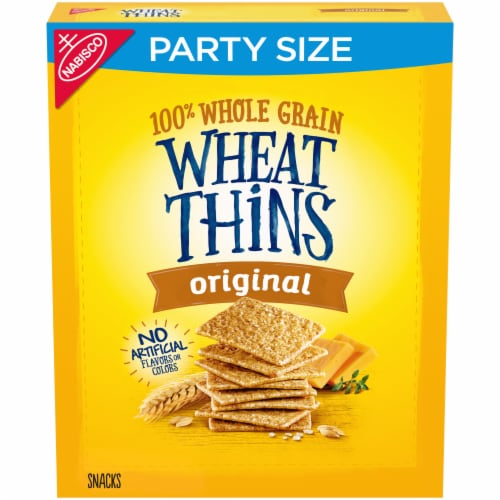 Wheat Thins Original Party Size Crackers Perspective: front