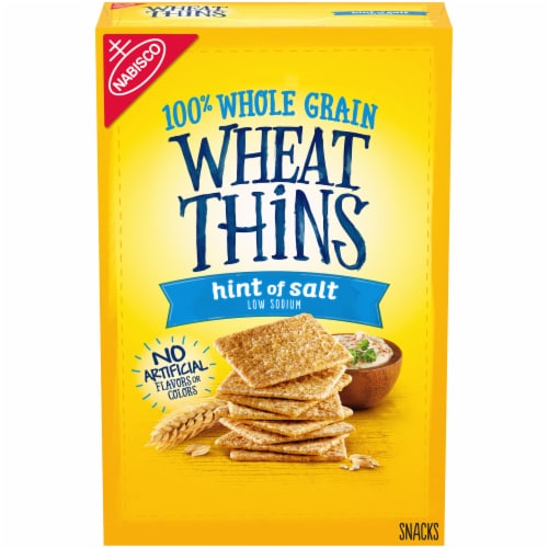 Nabisco Wheat Thins Hint of Salt Crackers Perspective: front
