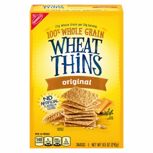 Wheat Thins Original Snack Crackers Perspective: front