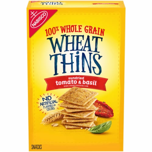 Nabisco Wheat Thins Sundried Tomato & Basil Crackers Perspective: front