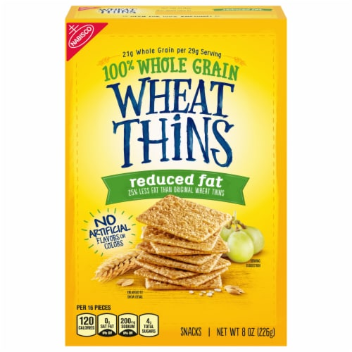Nabisco Wheat Thins Reduced Fat Crackers Perspective: front