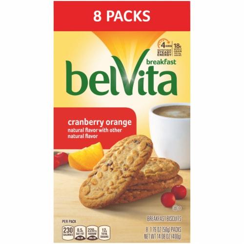 belVita Cranberry Orange Breakfast Biscuits Packs Perspective: front