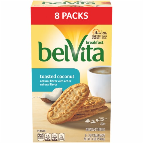 belVita Toasted Coconut Breakfast Biscuits Perspective: front