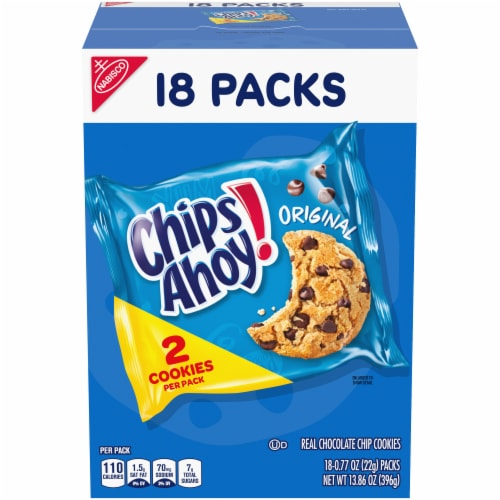 Chips Ahoy Real Chocolate Chip Cookies Perspective: front