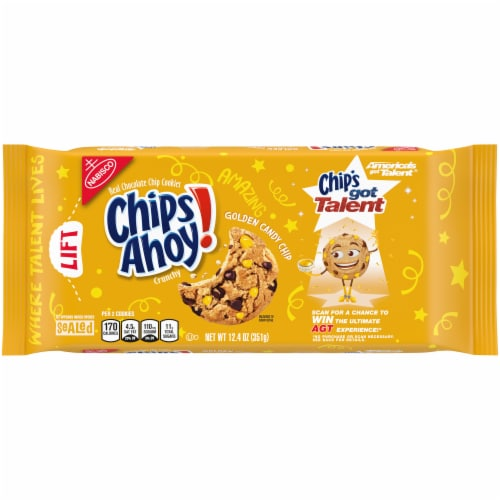 Chips Ahoy! Golden Candy Chip Cookies Perspective: front