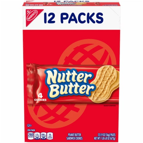 Nutter Butter Peanut Butter Sandwich Cookies Multi-Pack Perspective: front