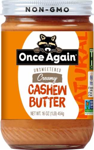 Once Again Natural Cashew Butter Perspective: front