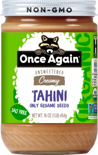 Once Again Organic Creamy Sesame Tahini Perspective: front