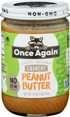 Once Again Lightly Sweetened Crunchy Peanut Butter Perspective: front