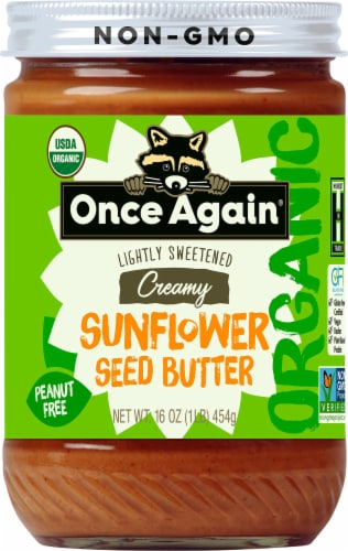 Once Again Organic Lightly Sweetened Creamy Sunflower Seed Butter Perspective: front
