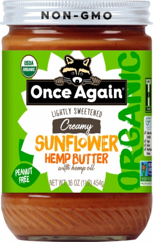 Once Again Organic Creamy Sunflower Hemp Butter Perspective: front