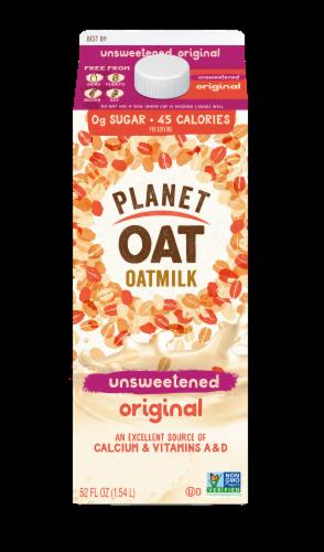 Planet Oat Unsweetened Original Oatmilk Perspective: front