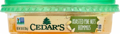 Cedars Natural Roasted Pine Nut Hommus Perspective: front