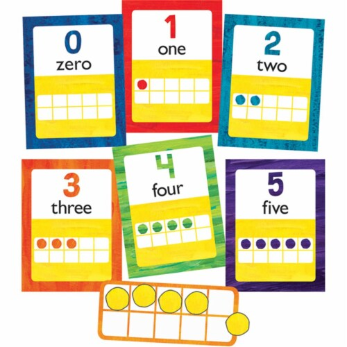World of Eric Carle™ Numbers 0-20 Bulletin Board Set, 43 Pieces Perspective: front