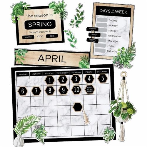Carson Dellosa Education CD-110502 Simply Boho Calendar Bulletin Board Set for Grade K-5, Mul Perspective: front