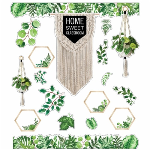 Simply Boho Home Sweet Classroom Bulletin Board Set Perspective: front