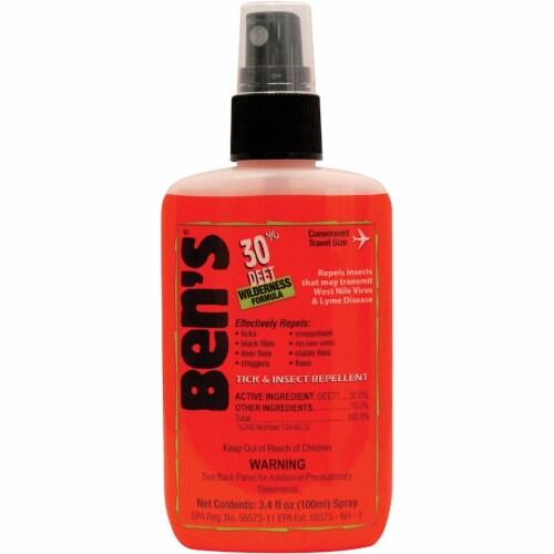 Ben's 30% Deet 3.4 Oz. Insect Repellent Pump Spray 0006-7088 Perspective: front