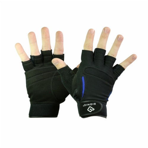 Bionic Glove FTRX-W-P-BK-SM Womens SRG Fitness Fingerless - Black, Small Perspective: front