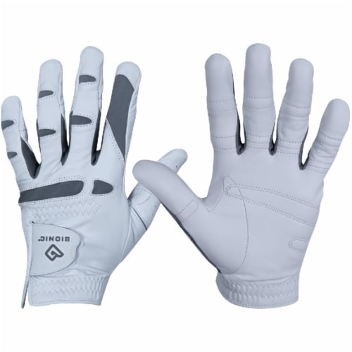 Bionic Glove GFPP-M-L-WH-CL Mens PerformanceGrip Pro Golf Left - White, Cadet Large Perspective: front