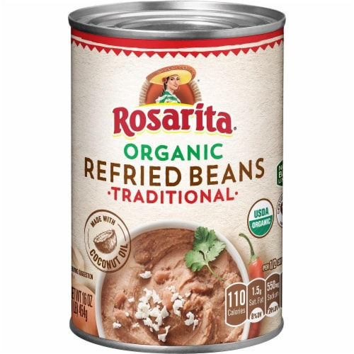 Rosarita Organic Traditional Refried Beans Perspective: front