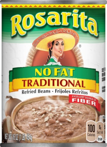 Rosarita Traditional No Fat Refried Beans Perspective: front