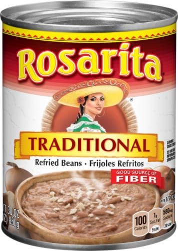Rosarita Traditional Refried Beans Perspective: front