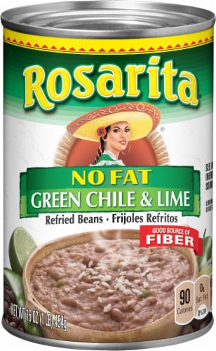 Rosarite No Fat Green Chile & Lime Refried Beans Perspective: front