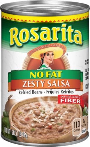 Rosarita Zesty Salsa Refried Beans Perspective: front