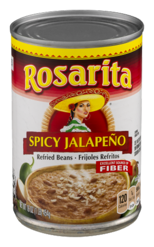 Rosarita Spicy Jalapeño Refried Beans Perspective: front