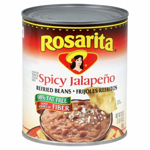 Rosarita Spicy Jalapeno Refried Beans Perspective: front