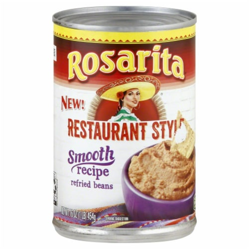 Rosarita Restaurant Style Smooth Recipe Refried Beans Perspective: front