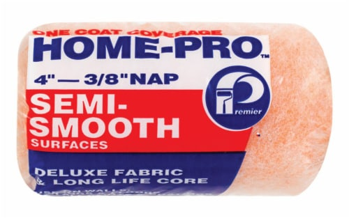 Premier  Home-Pro  Polyester  4 in. W x 3/8 in.  Paint Roller Cover  1 pk - Case Of: 36; Each Perspective: front