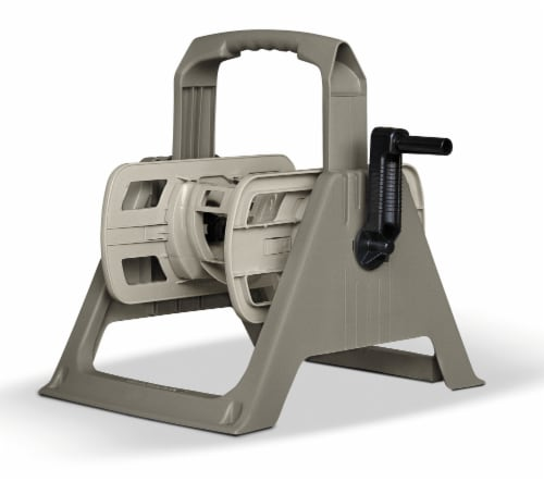 Suncast Hose Reel - Taupe Perspective: front