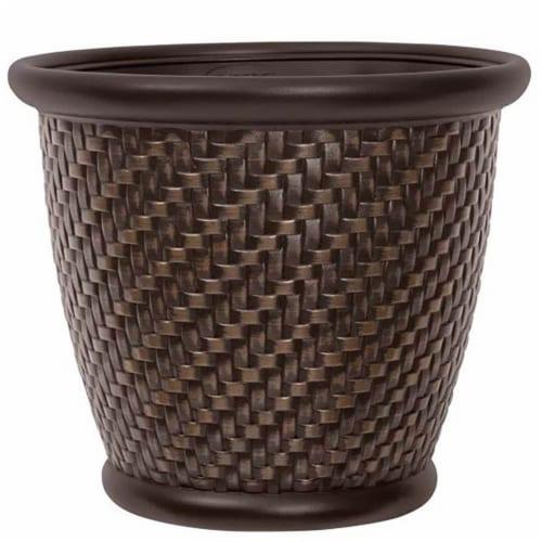 Suncast 1807J4 18 in. Bronze Herring Planter Perspective: front