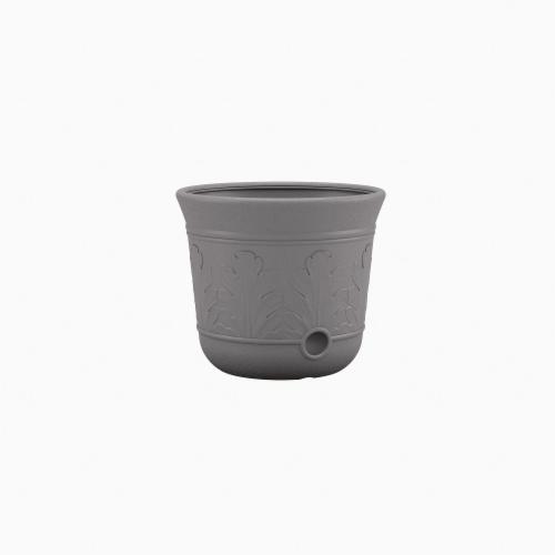 Suncast Hose Pot - Gray Perspective: front