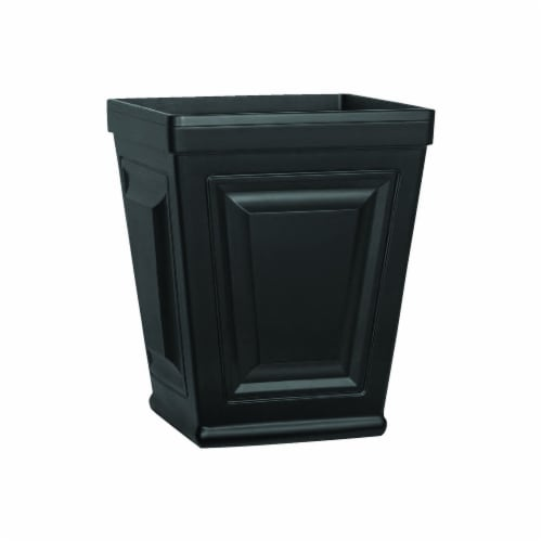 Suncast 7792823 20 x 15.5 in. Provincial Resin Planter, Black Perspective: front