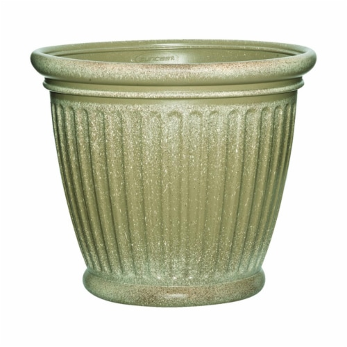 Suncast 7507247 16 x 18 in. Capital Resin Craftsman Planter, Tan Perspective: front