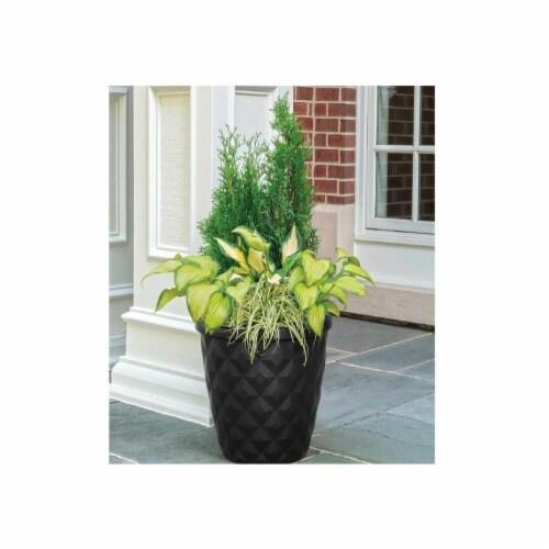 Suncast 1622K4 16.2 in. Pinehurst Resin Planter - Black Perspective: front