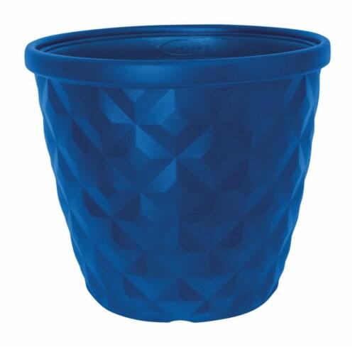 Suncast 1622B4 14.2 in. Pinehurst Resin Planter - Blue Perspective: front